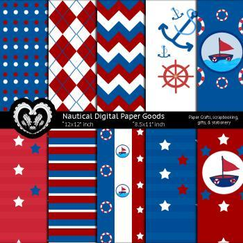 Nautical Paper Goods Kids Party Theme